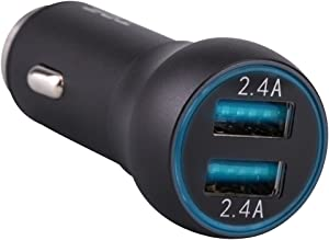 TPF Car Charger 24W 4.8A Dual Smart USB Port Rapid Car Chargers for iPhone 7 6S Plus 6 5SE 5S 5 5C 4S Samsung Galaxy S7 S6 Edge Note 7 5 4 S5 Tab S LG G5 G4 HTC Nexus 5X 6P iPads Pro and More (Black)