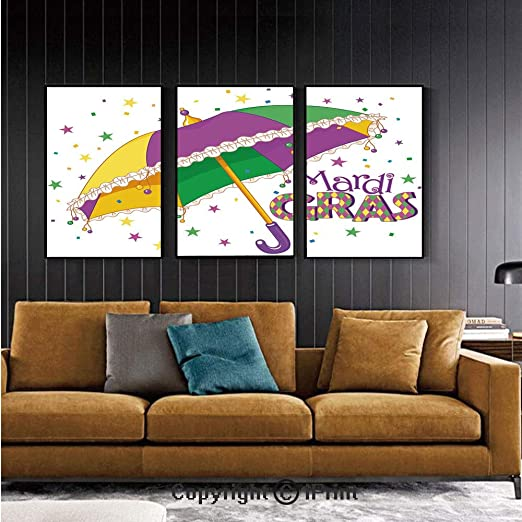 Amazon.com: Canvas Prints Modern Art Framed Wall Mural Mardi ...