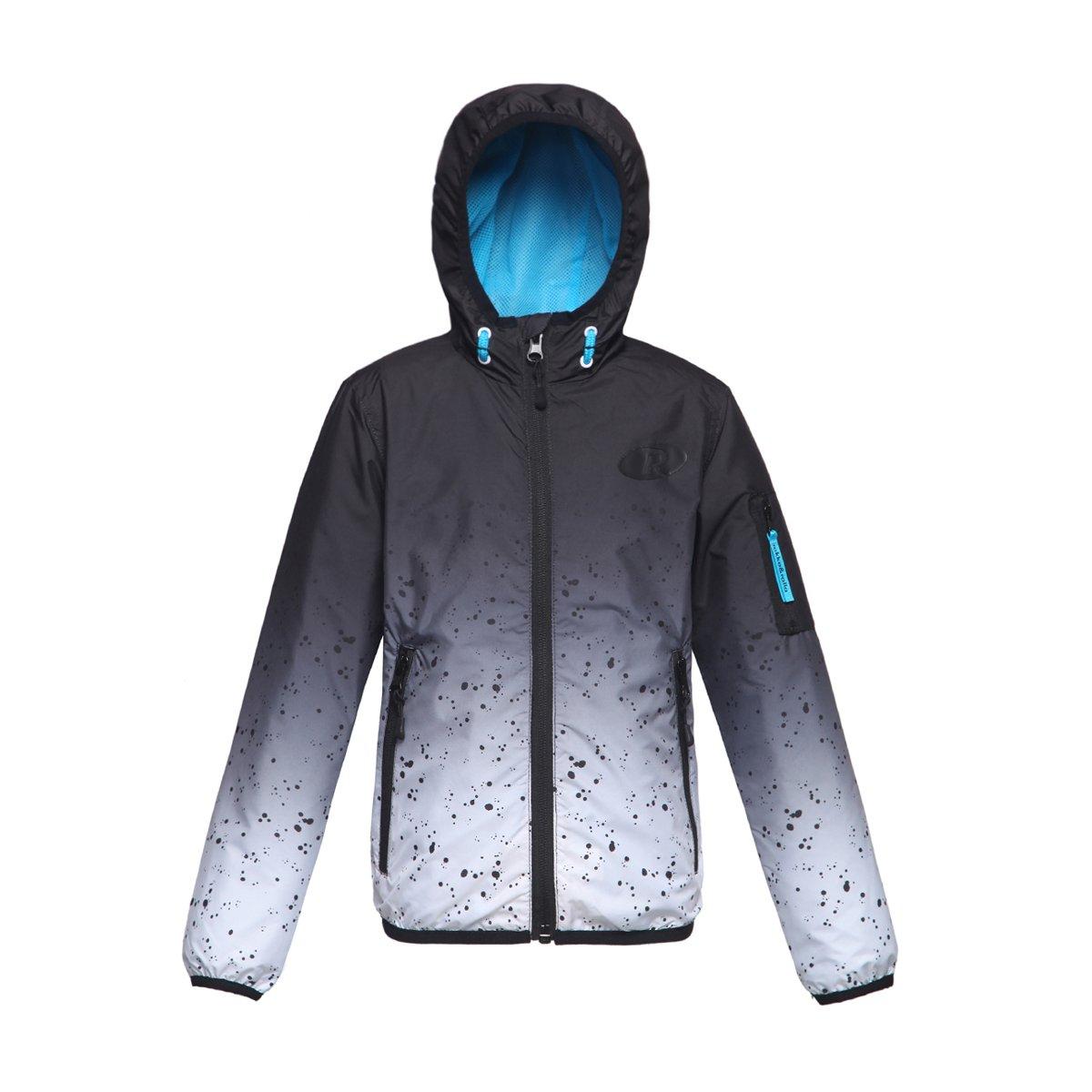 Rokka Rolla Boys' Lightweight Water Resistant Zip Up Hooded Windbreaker Jacket