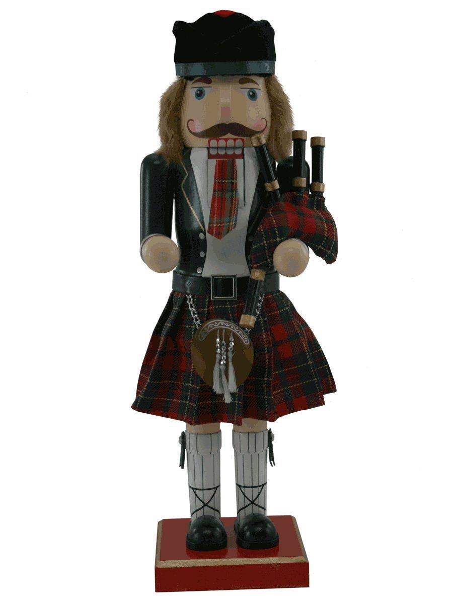Scottish Bagpiper German Nutcracker [145186]