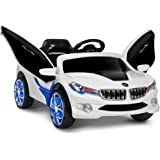 GetBest I8 Concept Battery Operated Ride on Car for Kids with Parental Remote, 2-piece, White