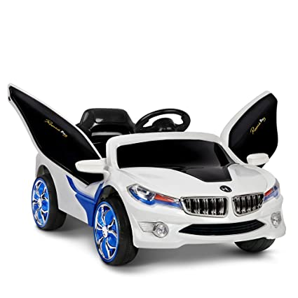 Getbest I8 1008 Battery Operated Ride On Car For Kids With Parental Remote 2 Piece White