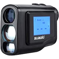 SUAOKI 600m Handheld Golf Laser Range Finder 4 Modes with External LCD Ajustable Focus for Golfing Free Battery