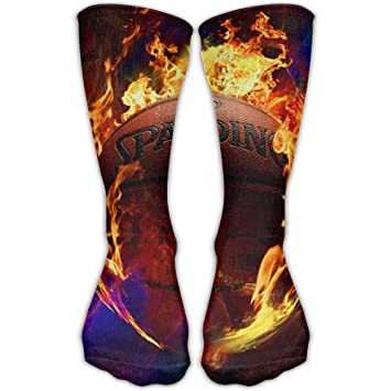 zengjiansm Calcetines Altos Burning Basketball Fire High Athletic Sock Gift Running: Amazon.es: Deportes y aire libre