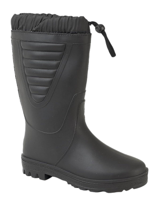 Stormwells Mens Gents Wellington Wellies Snow Fur Lined Boots UK 6-12 Black