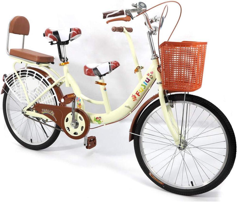 SHIOUCY - Bicicleta Tandem de 22 Pulgadas para niños con 2 ...