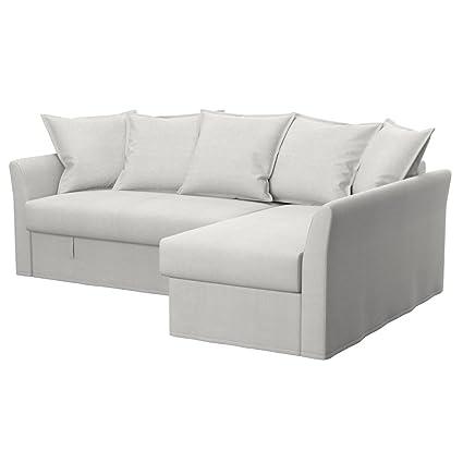 Ikea Divani Angolari Ecopelle.Soferia Ikea Holmsund Fodera Per Divano Letto Angolare Glam Beige
