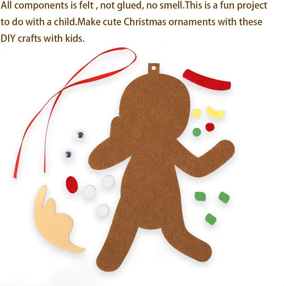 Cute Gingerbread Man Christmas Ornaments Kids Favors Xmas Tree Party Supplies