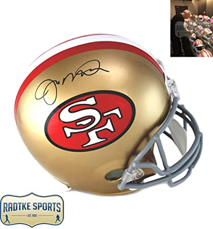 1bc049cc9 Joe Montana Autographed Signed San Francisco 49ers Riddell Throwback Full  Size NFL Helmet