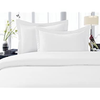 Elegant Comfort 1500 Thread Count Wrinkle,Fade and Stain Resistant 4-Piece Bed Sheet set, Deep Pocket, HypoAllergenic - California King White