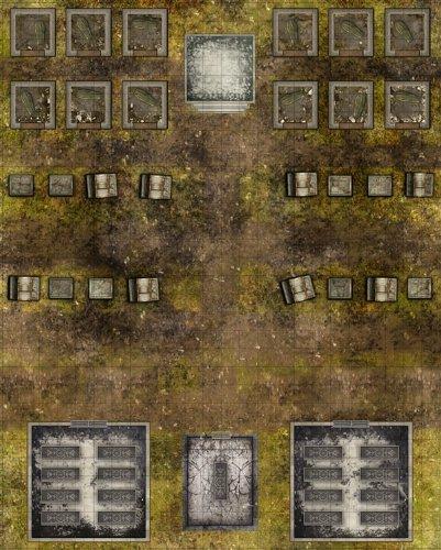 Deadlands Noir  Map Cemetery Crypt  S2p10705  Savage Worlds