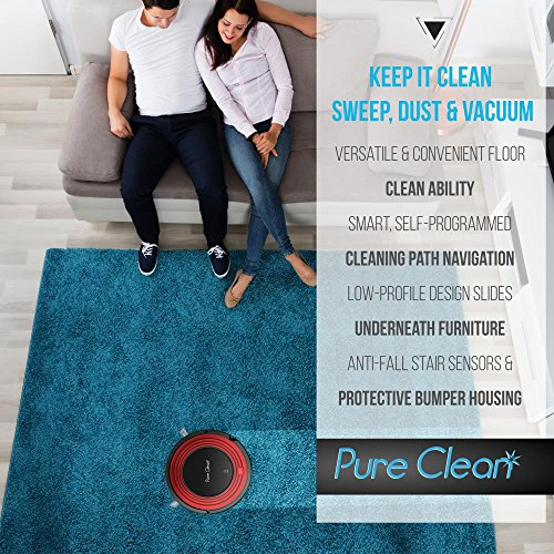 Automatic Robot Vacuum Cleaner - Filter Pet Hair Friendly Clean with Self Activation and Charge