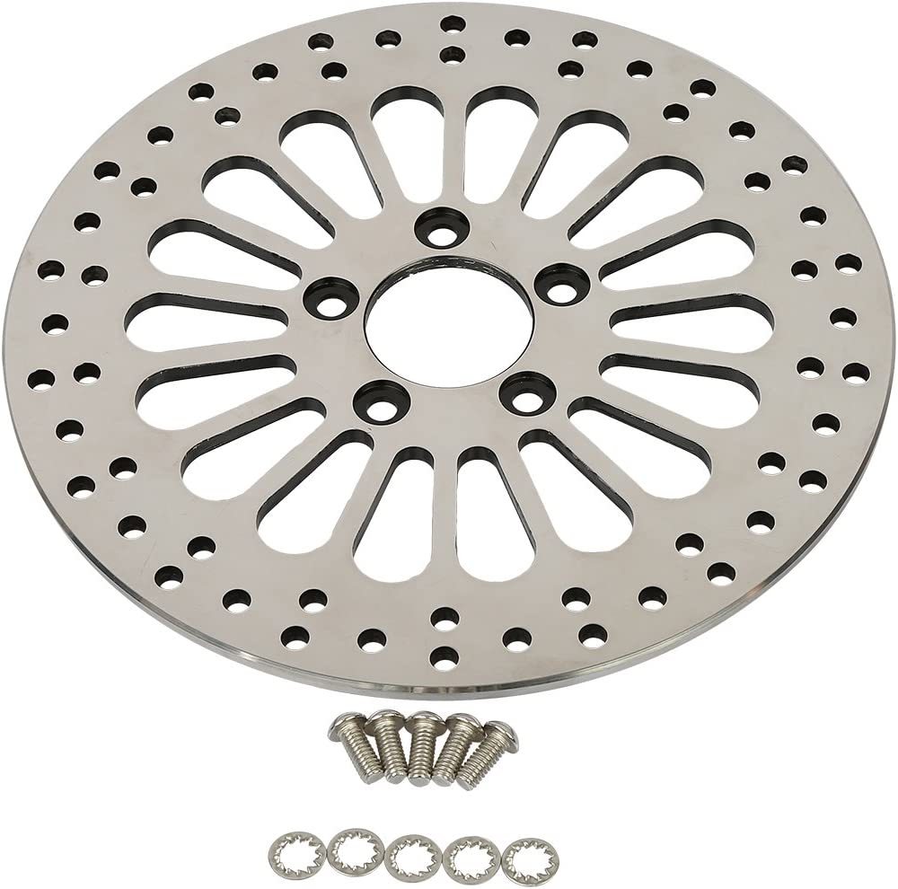 11.8 SPOKE FRONT BRAKE ROTOR PAIR W//BOLTS HARLEY TOURING BAGGERS FLHX FLT 08-UP