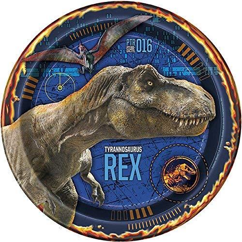 Jurassic World Fallen Kingdom Party Supplies 24 Pack Lunch Plates