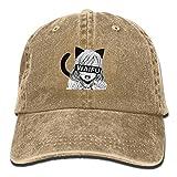 Erchee Waifu Unisex Washed Baseball Cap Adjustable Cowboy Cotton Ball Hat Natural