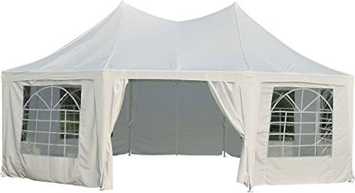 Outsunny 22 x 16 Large Octagon 8-Wall Party Canopy Gazebo Tent