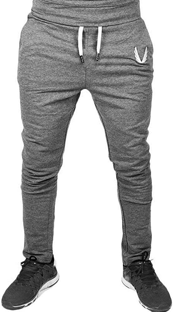 Ms lily Mens Cotton and Retro Casual Pants Deep Gray-Small