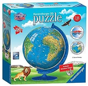 Ravensburger -Children's World Globe  3D Puzzle (180 pc)