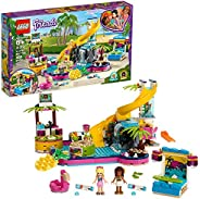 LEGO Friends Andrea's Pool Party 41374 Toy Pool Building Set with Andrea and Stephanie Mini Dolls for Pret