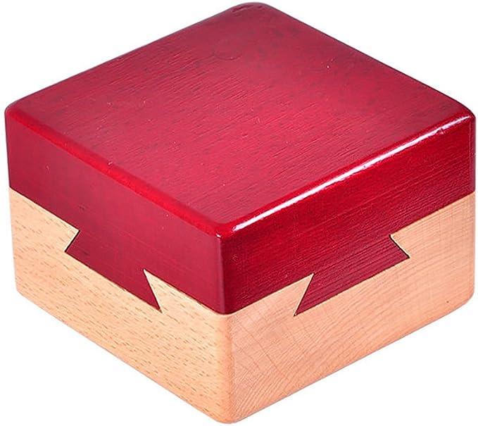 Zantec Juguetes Creativos, Caja Secreta de Madera Caja de Regalo Creativa para joyería escondida en Efectivo Sorpresa en Efectivo para acompañantes Amantes Amigos: Amazon.es: Juguetes y juegos