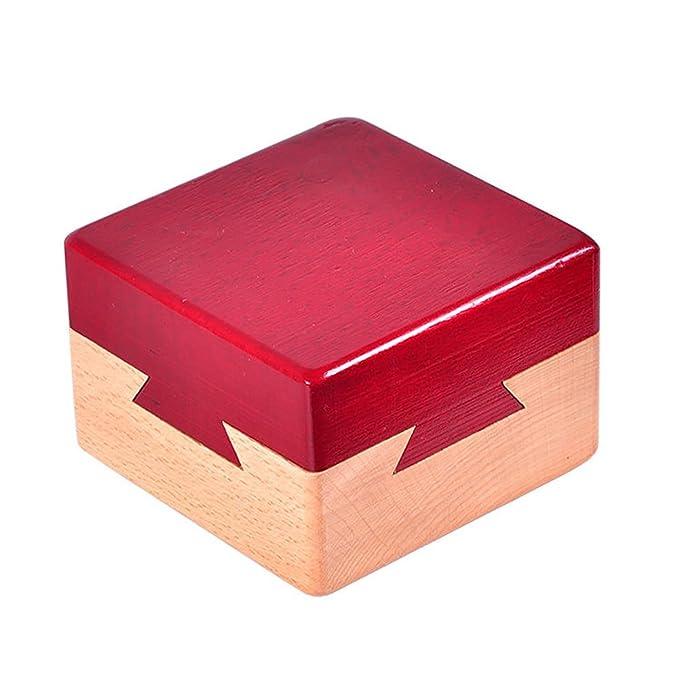 Juguetes Creativos, Zantec Caja secreta de madera Caja de regalo creativa para joyería escondida en efectivo Sorpresa en efectivo para acompañantes Amantes ...