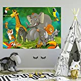 Photo Wallpaper Child 183 x 127 cm Nursery Animals Safari Jungle Kids Boy Girls Elephant wall mural included glue livingdecoration