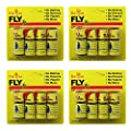 Baiou 16PCS Fly Paper Strips,Fly Trap, Fly Catcher Trap, Fly Ribbon, Fly Bait, Super Value