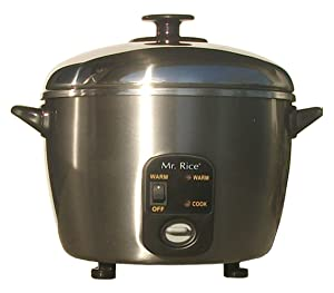Sunpentown SC-886 3-Cup Stainless-Steel Rice Cooker and Steamer