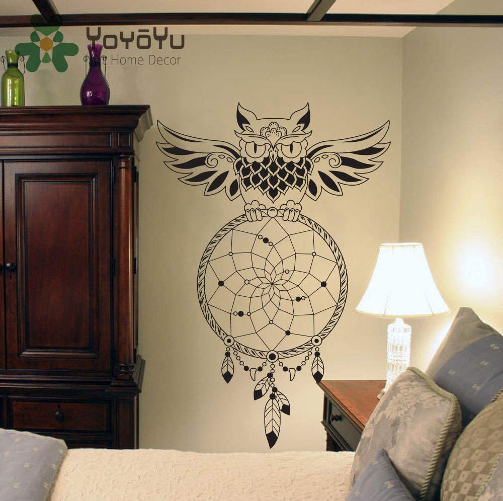 Dream Catcher Wall Decal OWL Dreamcatcher Wall Art Sticker Home Decor Bedroom House DIY Design Poster Mural Removable NY-83