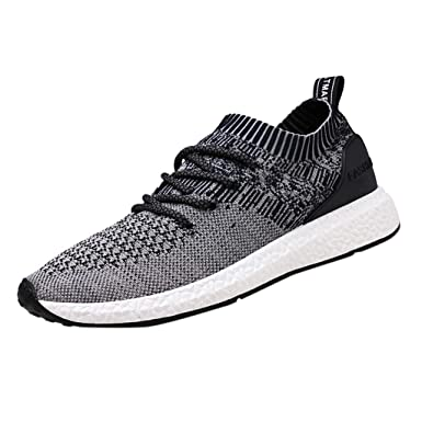 d348f1b98812a Men's Casual Athletic Sneakers Breathable Knit Running Shoes Ultra ...