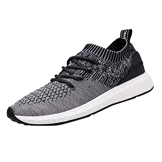 dbecead1940d4 Amazon.com: 2019 Casual Shoes Men Flat Sneakers Breathable Fashion ...
