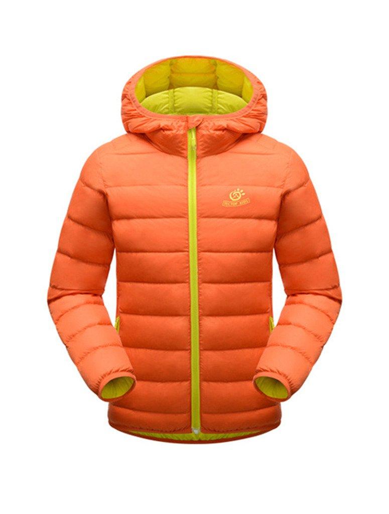 OUO Kinder Outdoor Daunenjacke Sweatjacke Daunen Jacke winter kälteschutz Kapuze Reißverschluss