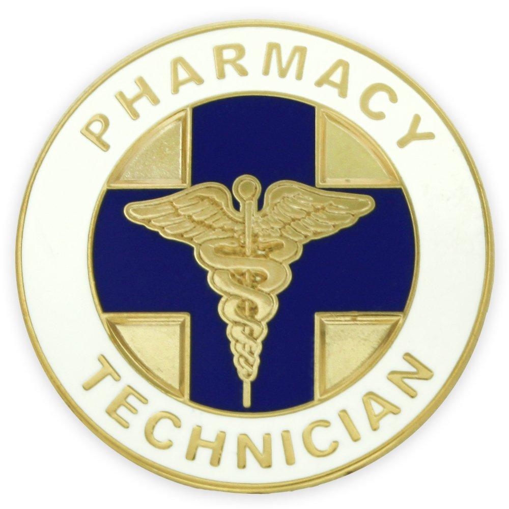 Pharmacy Technician PT Medical Enamel Lapel Pin