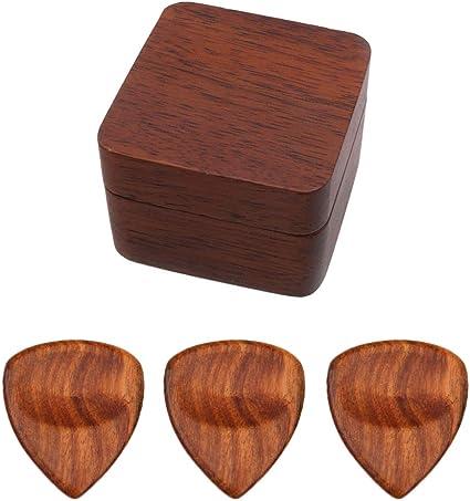 perfk - Juego de 3 púas de guitarra con caja de nogal, Pics en ...