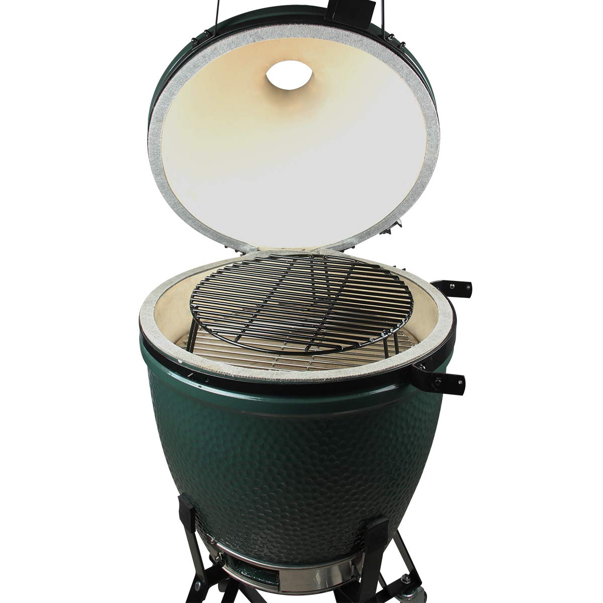 BBQ Grill Extender Rack,Kamado Warmer Rack,Stack Rack with enamel coating Increase Grilling Surface Fit Large & XL Big Green Egg,Kamado Joe Classic,18'' & bigger cooking-diameter grill (L-15 inch) by Dracarys (Image #5)