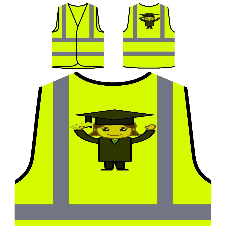 Donna In Vestito Da Graduazione Laureato Personalizzato Hi Visibilità Giacca Gilet di sicurezza a441v INNOGLEN