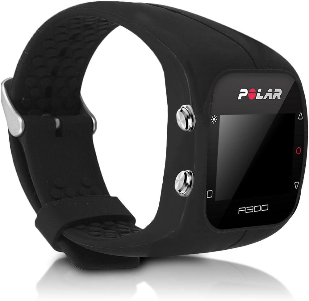kwmobile Pulsera Compatible con Polar A300 - Brazalete de Silicona en Negro sin Fitness Tracker