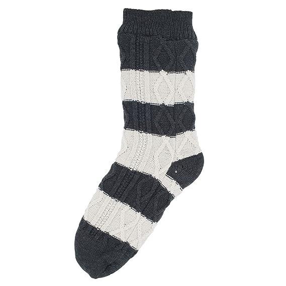 Style It Up Hombre Grueso Calcetines Pantufla para Acurrucarse Forro Polar de Ochos Térmicos Cálidos Idea Regalo - Crema, One Size: Amazon.es: Ropa y ...