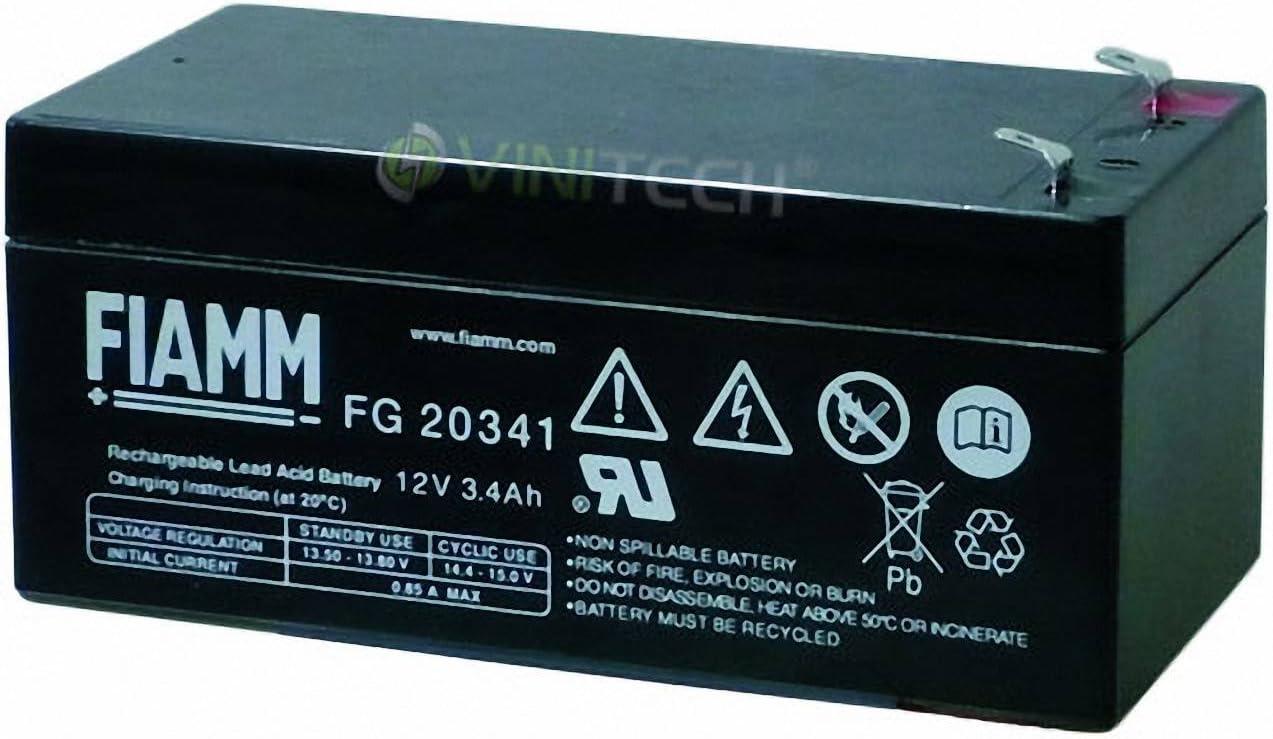 Bater/ía Plomo AGM FG20341 12V 3.4Ah F4.8 FIAMM