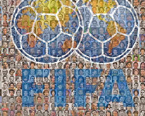 Fifa Soccer Player Mosaic Print Art Designed Using Over 100 of the Greatest Soccer Players of All Time. 8x10