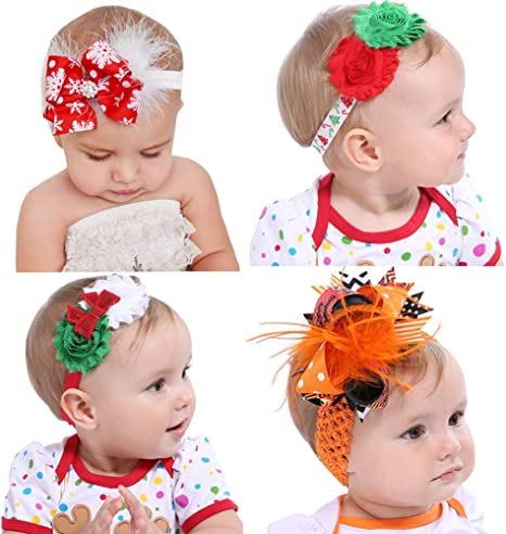 Toddler Headband Orange and Black Headband Infant Headband Baby Bows Halloween Headband Baby Headband Halloween Hair Bow Bow Headband