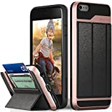 iPhone 6s Plus Case, Vena [vCommute] Wallet Flip Leather Back [Card Slot Holder][Smart Cover KickStand] Cover for iPhone 6 Plus / 6s Plus - Rose Gold
