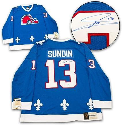 Mats Sundin Quebec Nordiques Autographed Fanatics Vintage Jersey ...