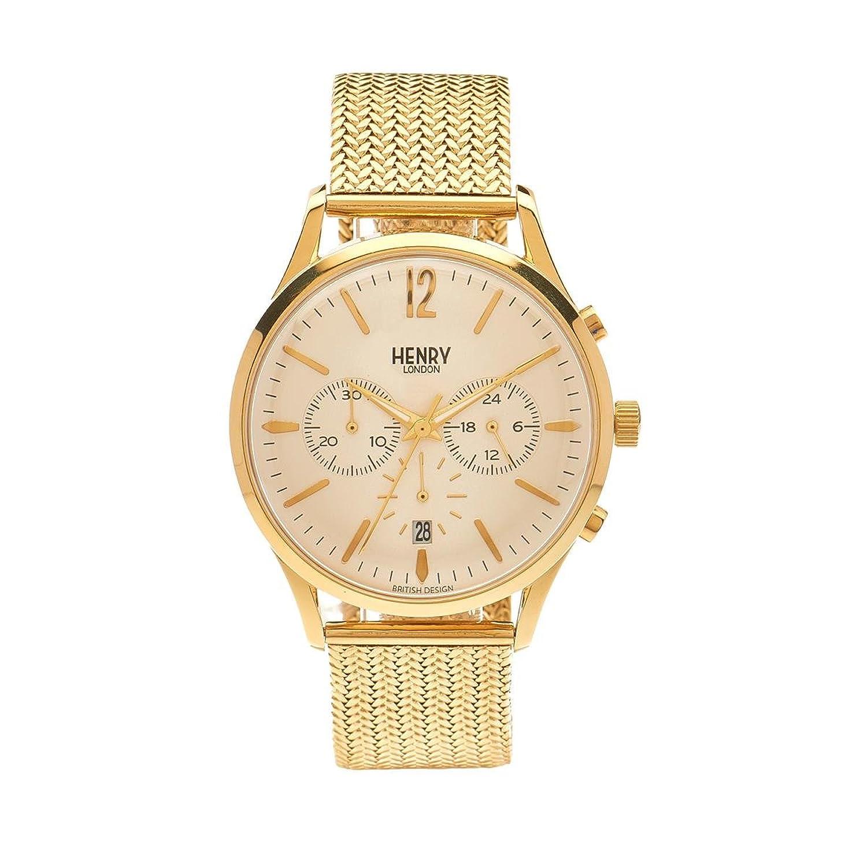 Henry London Unisex-Armbanduhr Westminster Chronograph Quarz Edelstahl HL41-CM-0020