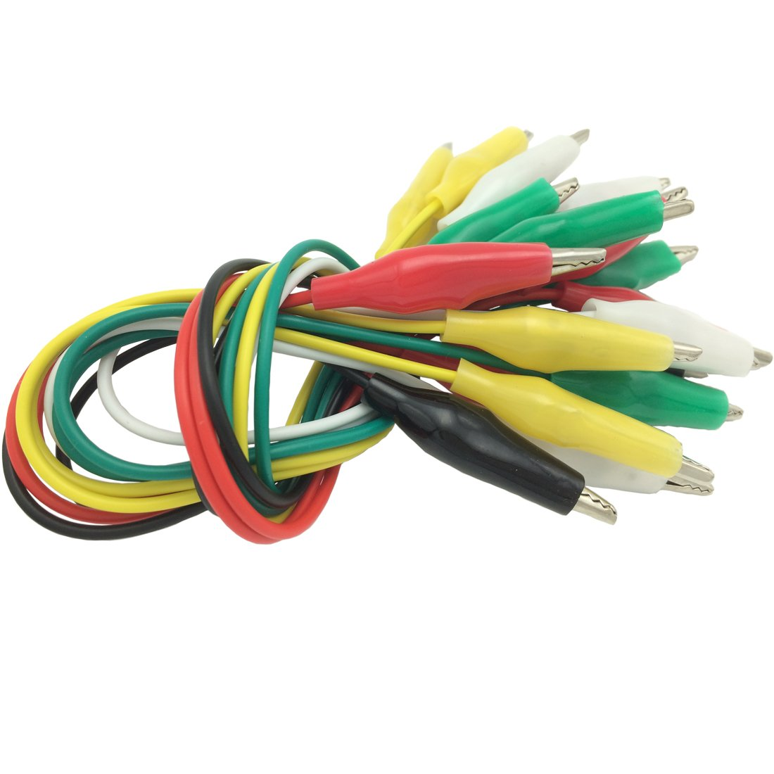 10 Pieces and 5 Colors Test Lead Set /& Alligator Clips,19.7 inches