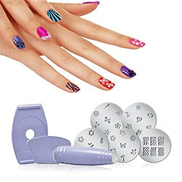 Amazon Professional Nail Art Stamping Finger Decoration Salon