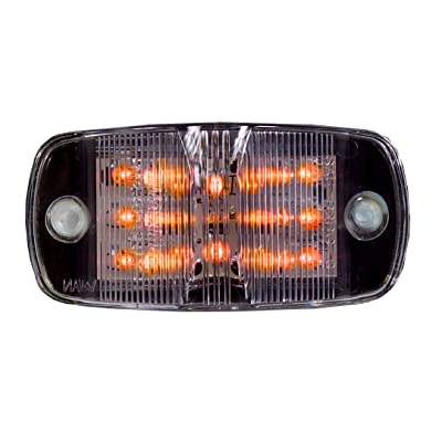 "Maxxima M23015YCL Amber 4"" LED Clear Lens Combination Clearance Marker Light: Automotive"