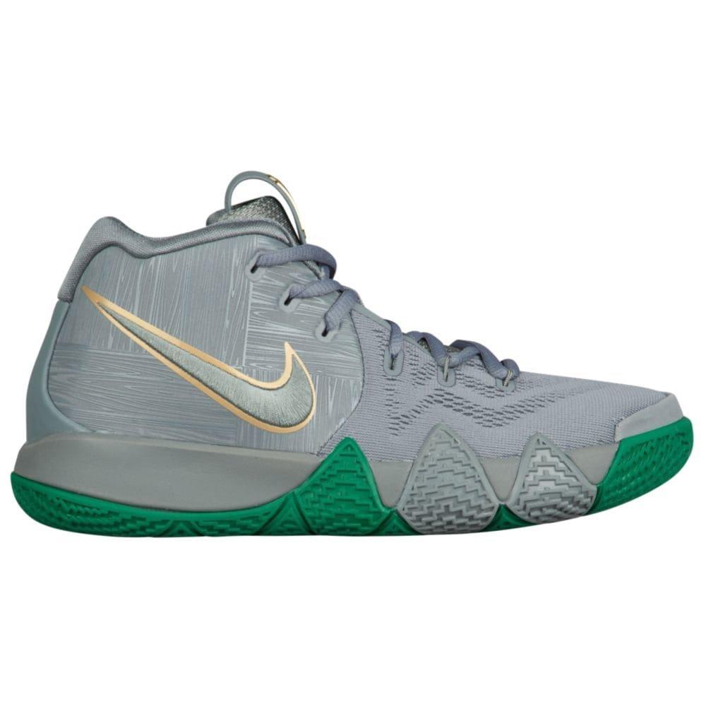 NIKE Kids' Grade School Kyrie 4 Basketball Shoes B07B6SMRRX 6.5 M US|Flat Silver/Metallic Gold/Flat Silver