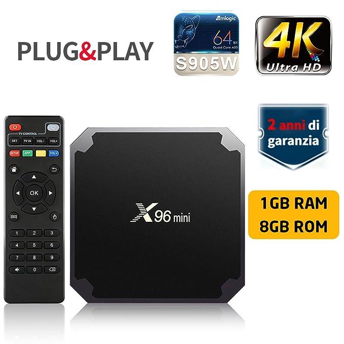 150 opinioni per TV BOX SUNNZO X96 Mini Pro Android 7.1 4K Mini/Dispositivo streaming per TV con