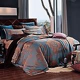 Dolce Mela DM477K Jacquard Damask Luxury Bedding Duvet Covet Set, King